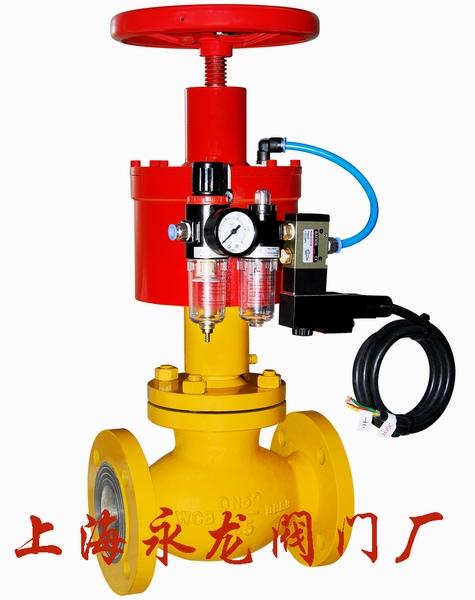 高压切断阀广泛应用于化工危险品,供气管网系统,燃气热能工厂车间图片