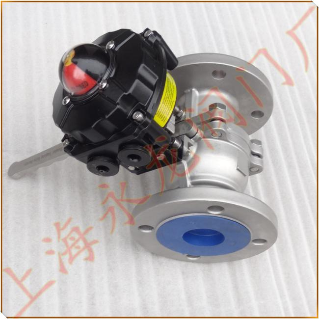 简称信号球阀,由手动球阀与限位开关组成一体,在手动操作阀门开关动作图片